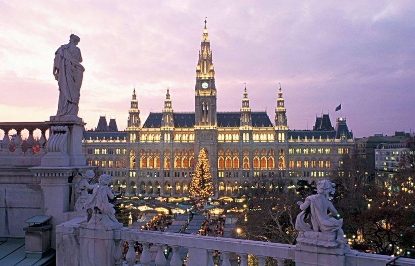 Viena, Ayuntamiento Navidad