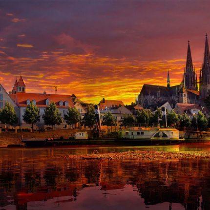 Regensburg atardecer